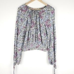 Lucky Brand off the shoulder blouse top Sz S